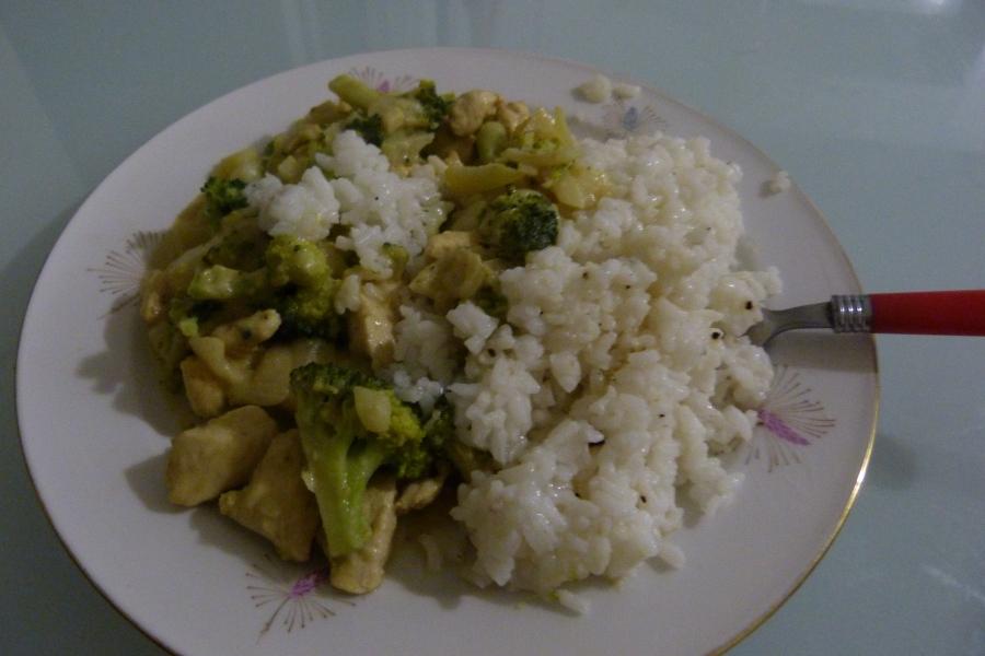 Curry de poulet à l'indonésienne