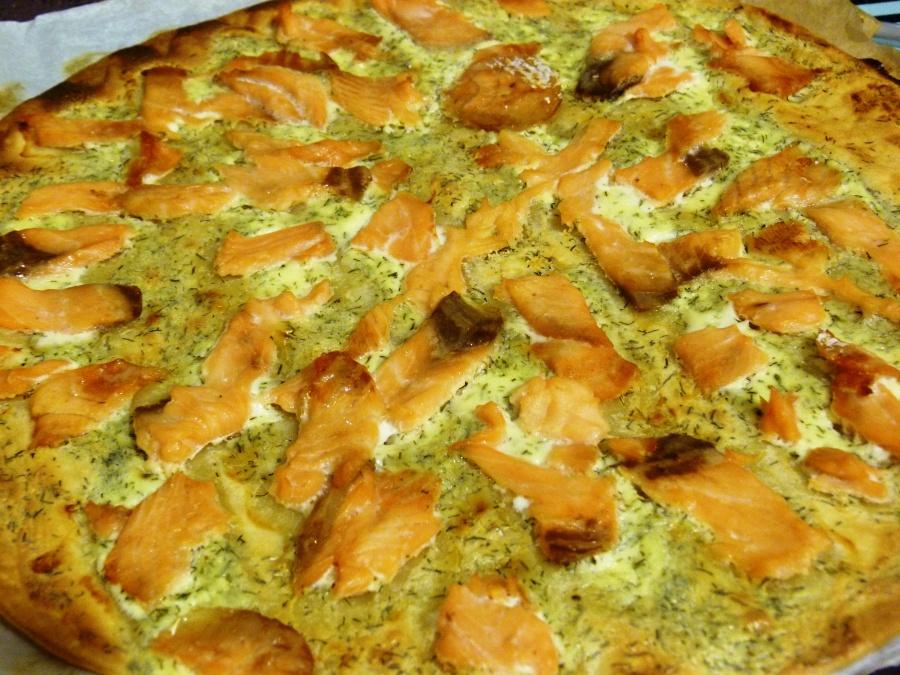 Pizza saumon-citron-aneth