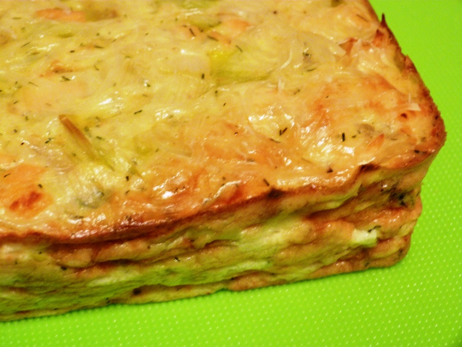 Flan saumon-poireaux àl'aneth