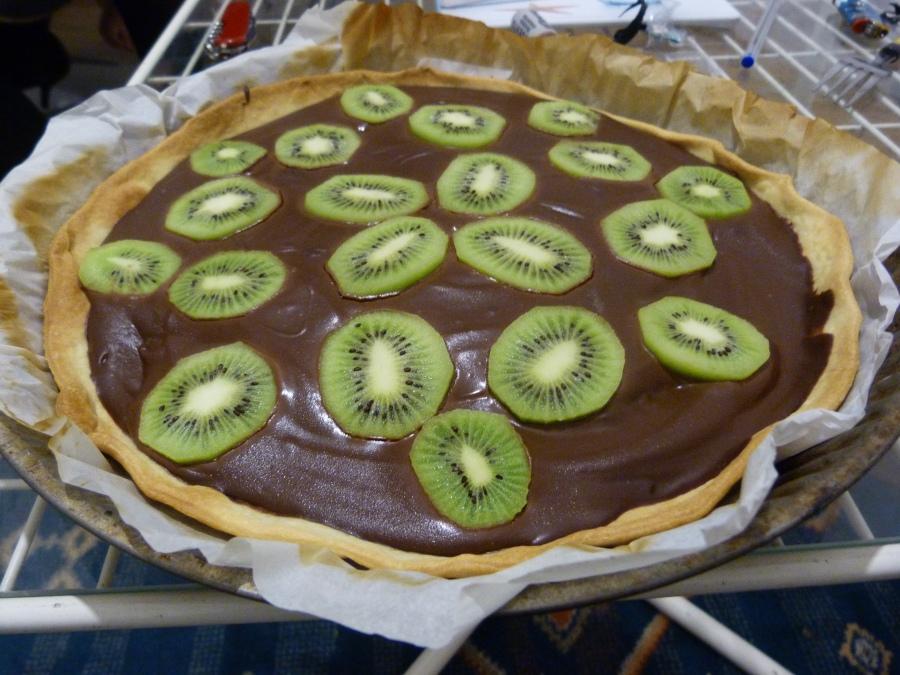 Tarte chocolat-kiwi-speculoos