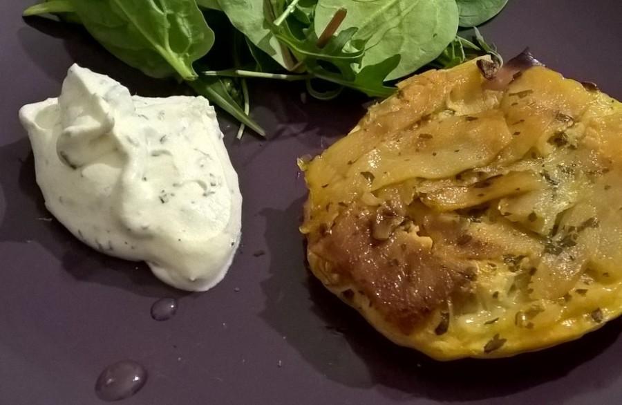 Battle food #45 – Tatins poires et fourme d'Ambert et leur crème fouettée authym