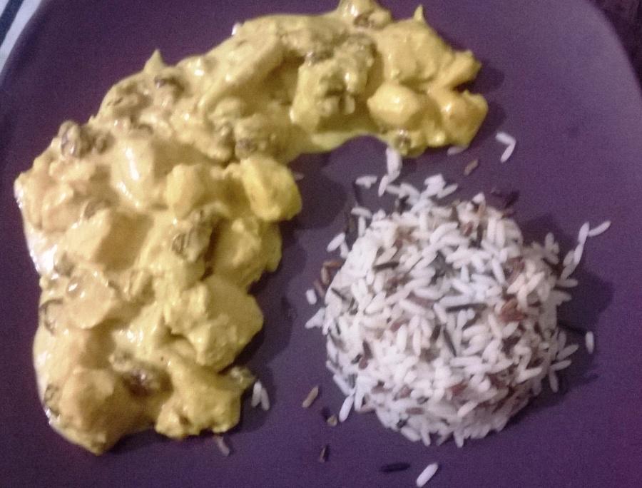 Poulet au curry sucré-saléléger