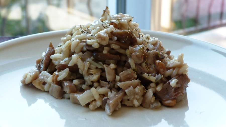 Risotto aux pleurotes, pecorino et noix (WW 6SP)