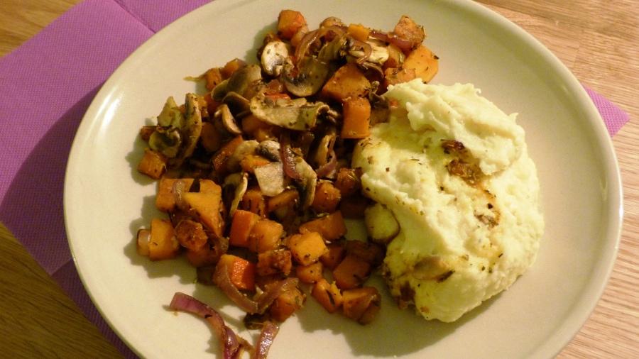 Poêlée de légumes d'Automne et sa purée maison au reblochon (WW 7SP)