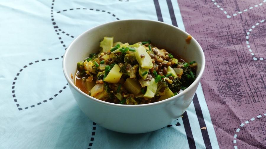 Escapade en cuisine octobre 2016 : le potage de lentilles et brocolis deRosa