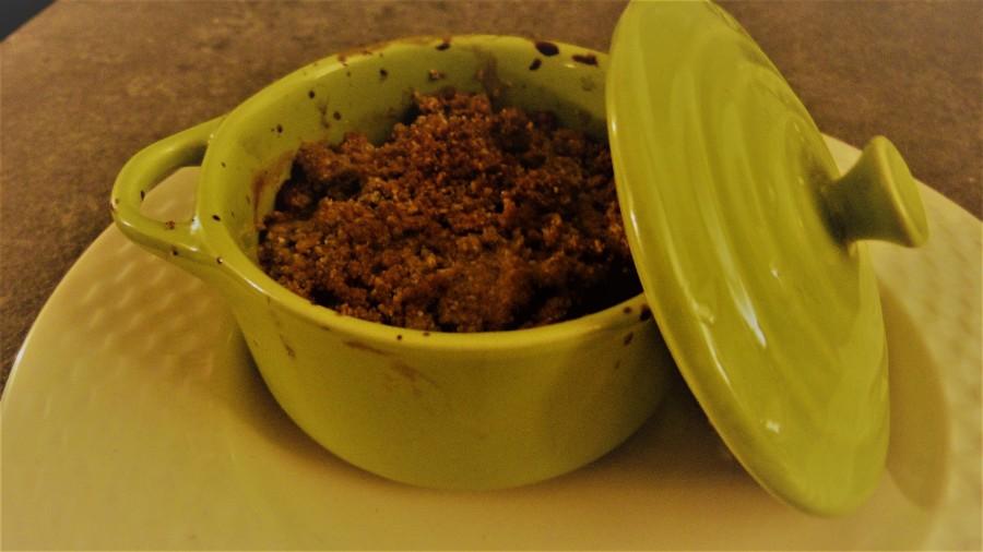 Bataille Food #42 : Crumble vegan épicé aux litchis, framboises et fruits de lapassion