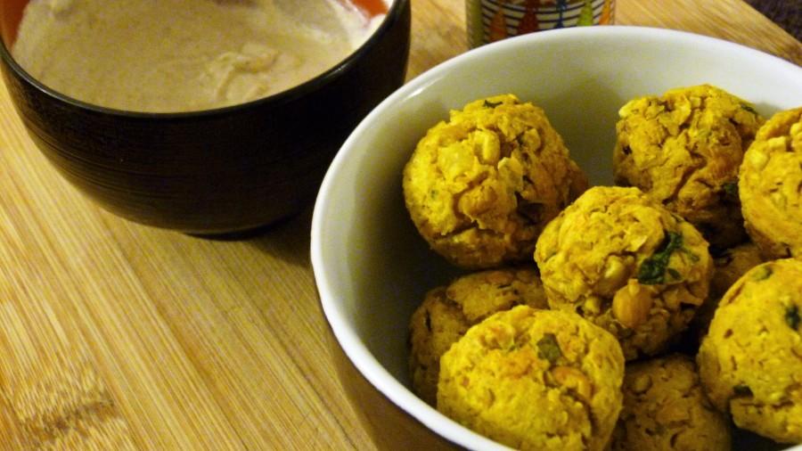 Falafels à la patate douce et sauce autahin