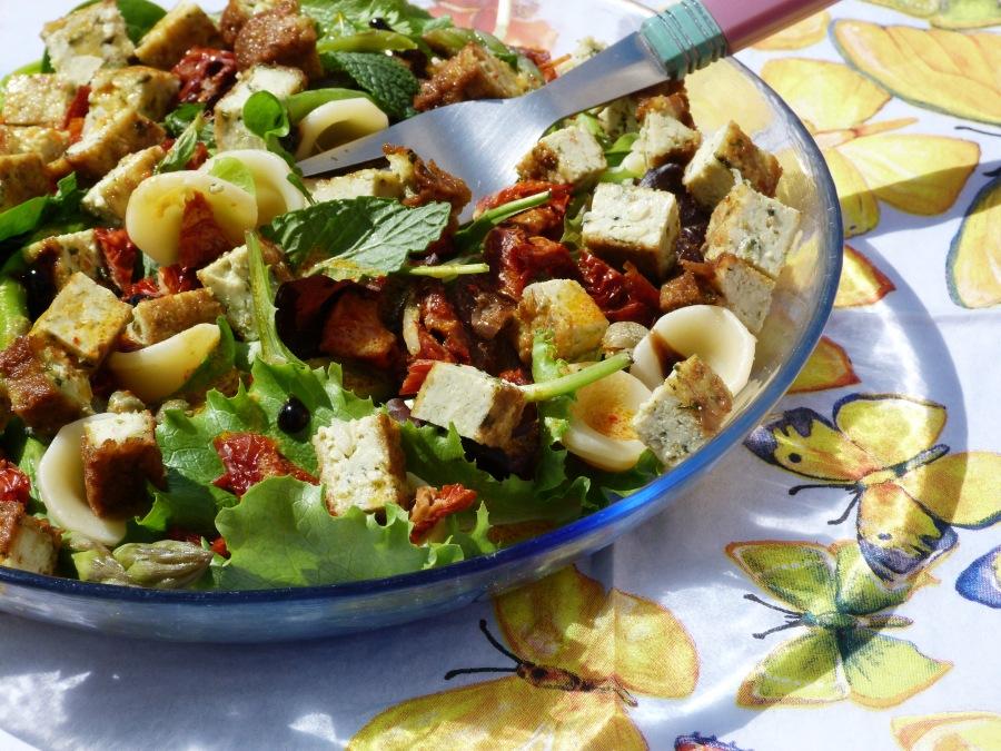 Salade d'orecchiette printanière
