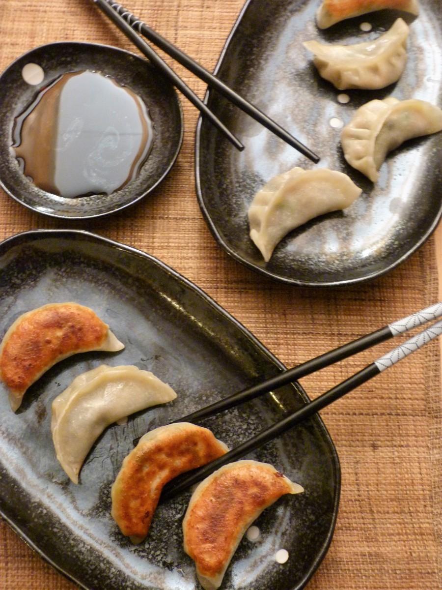Bataille Food #62 - Gyozas végétariens aux shiitaké, potimarron et chou vert